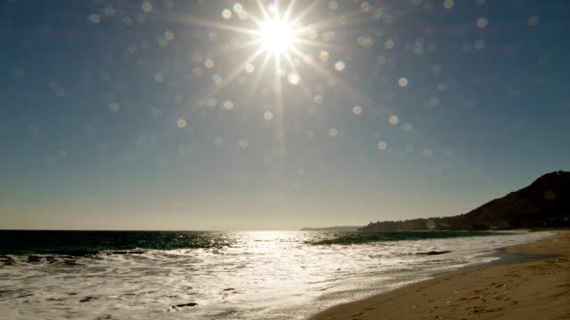 Beautiful sunrise over the ocean video