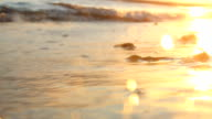 Beautiful sunrise over the tropical beach video