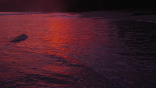 Beautiful sunset at beach video