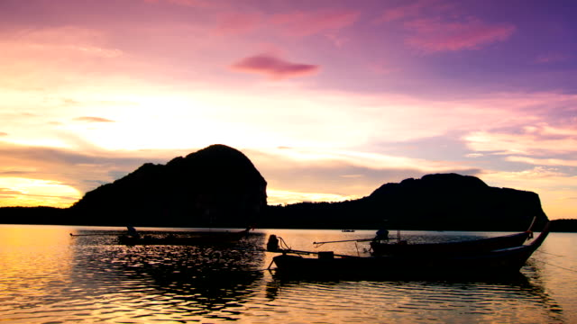 Beautiful sunset at tropical sea video