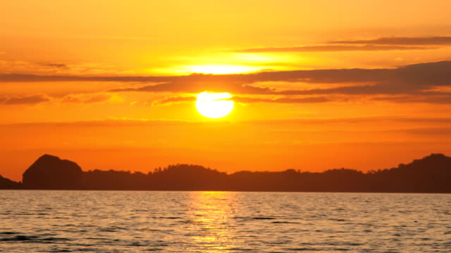 Beautiful sunset at tropical sea video