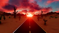 Beautiful Sunset in American Desert video