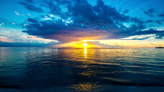 Beautiful sunset in Nathon Town beach, Samui island, Thailand video