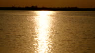 Beautiful sunset light water texture video