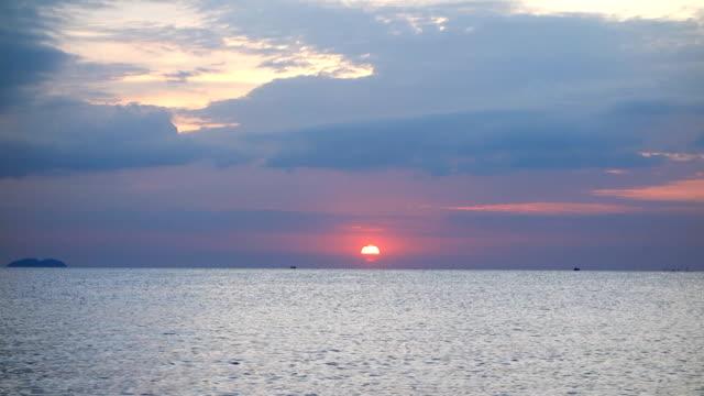 beautiful sunset on sea video