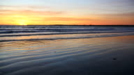 Beautiful sunset on the beach video