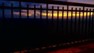 Beautiful sunset over sea video
