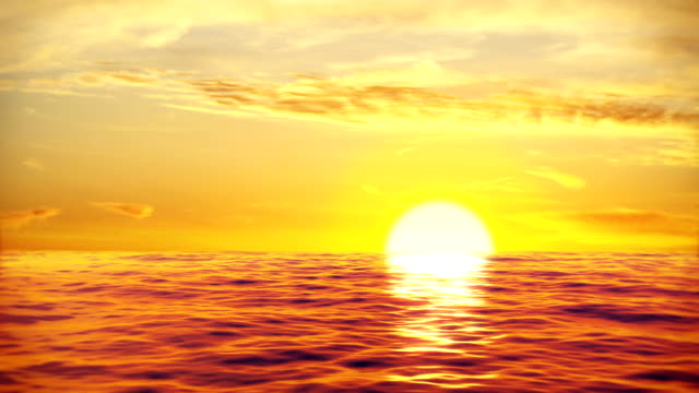 beautiful sunset sea waves video