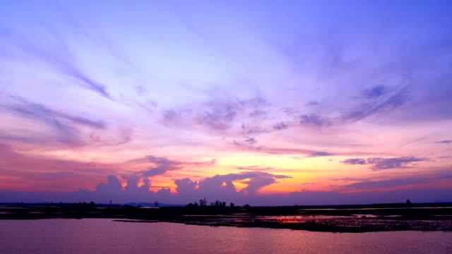 beautiful sunset timelapse video