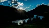 Beautiful sunset upon Yellowstone River video