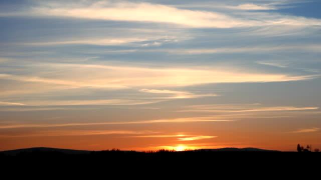 Beautiful sunset. video