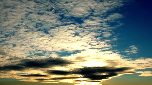 Beautiful Sunset With Cirrus Clouds video