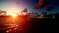 Beautiful timelapse sunrise over Sydney Opera House, tilt video