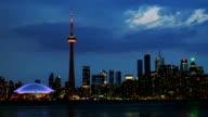 Beautiful Toronto Skyline During Dusk video