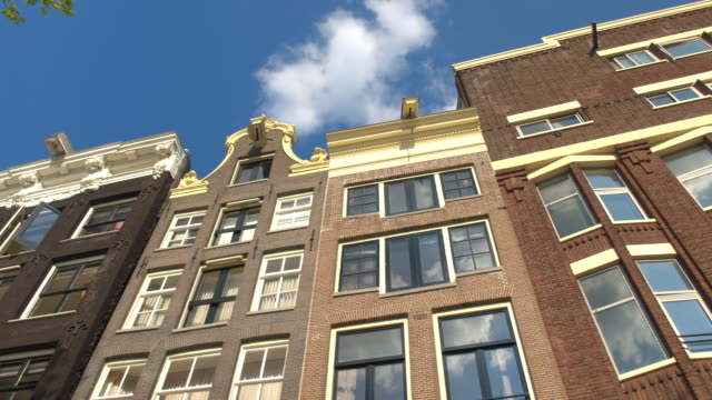CLOSE UP: Beautiful traditional canal houses with their typical architecture video
