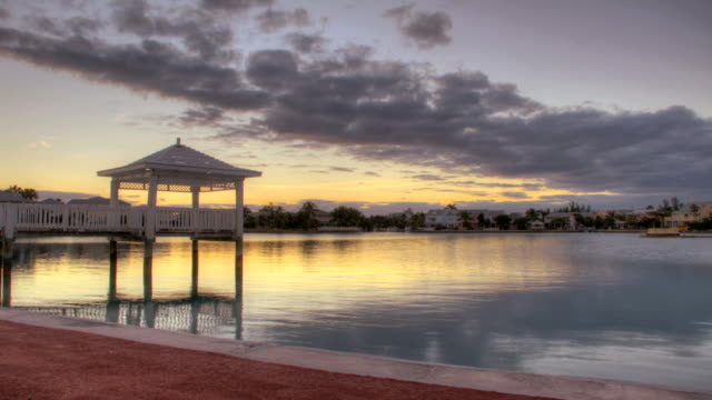 Beautiful Tropical Harbor Sunset in HDR Time Lapse video