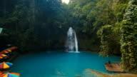 Beautiful tropical waterfall. Kawasan Falls. Philippines Cebu island video