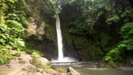 Beautiful tropical waterfall. Philippines Camiguin island video