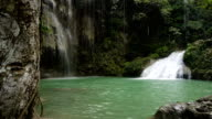 Beautiful tropical waterfall. Philippines Cebu island video