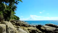 Beautiful view form Karon beach one of the most famous and popular beaches in Phuket island in Thailand video