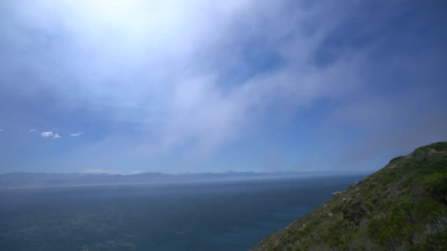 A beautiful view of sea and mountain in South Africa video