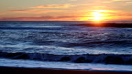 Beautiful view of sunrise over Pacific Ocean video