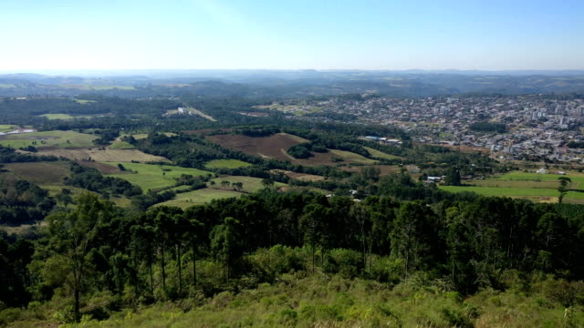 Beautiful view of the city of Guaporé video