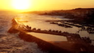 Beautiful view of the sunset over the bay of Santa Maria di Leuca, Italy video