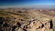 Beautiful view of Wadi Sabra desert in Hashemite Kingdom of Jordan video