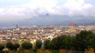 Beautiful views of Florence and Cathedral Santa Maria del Fiore from garden, Florence, Italy. video