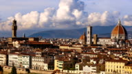 Beautiful views of Florence and Cathedral Santa Maria del Fiore, Florence, Italy. Time-lapse. video