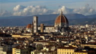 Beautiful views of Florence and Cathedral Santa Maria del Fiore, Florence, Italy. Zoom. video