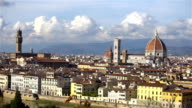 Beautiful views of Florence and Cathedral Santa Maria del Fiore, Florence, Italy. video