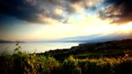 beautiful vineyard sunset near Lac Leman video