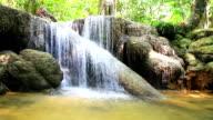 HD : Beautiful waterfall in forest. video