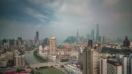 beautiful weather change panoramic 4k time lapse from shanghai city video