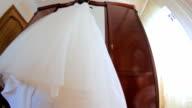 Beautiful Wedding Dress Of a Hanger video
