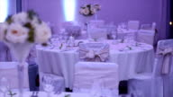 Beautiful wedding table setting video
