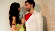 Beautiful woman and man video