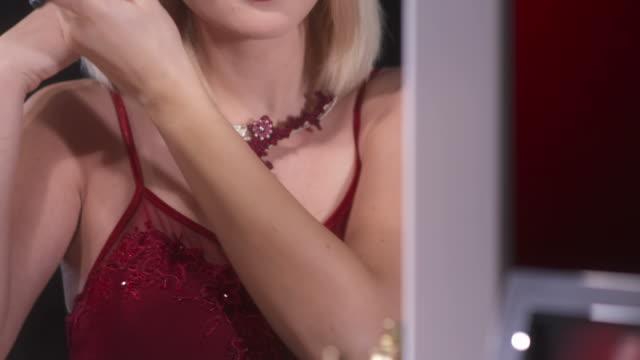 HD: Beautiful Woman Applying Blush video