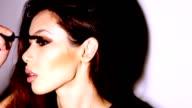 Beautiful woman applyling mascara v3 video