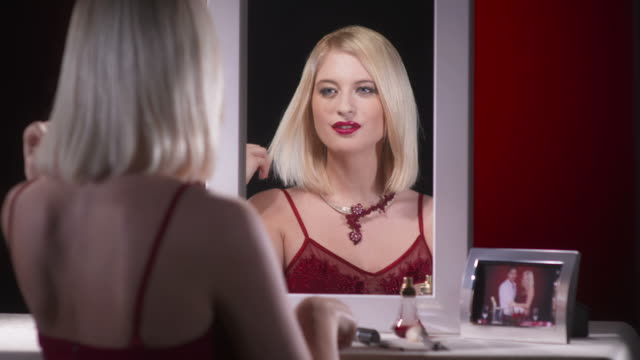 HD: Beautiful Woman At Dressing Table video