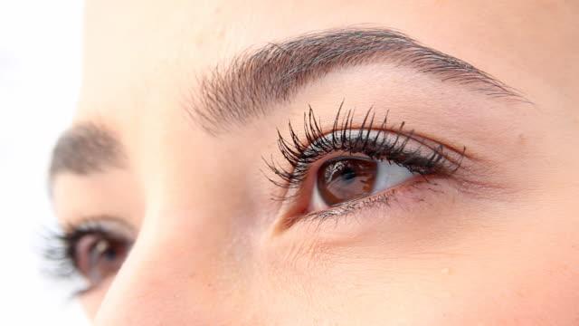 Beautiful woman eyes video