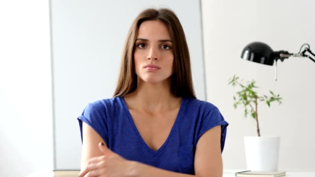 Beautiful Woman Gesturing Frustration and Anger video