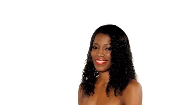 Beautiful woman in studio video