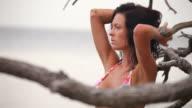 Beautiful Woman in Swimsuit video