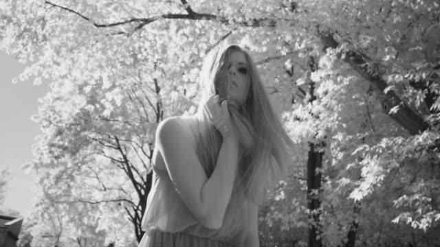 Beautiful woman posing video