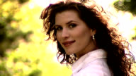 Beautiful woman smiles video