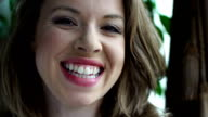 Beautiful woman smiling video
