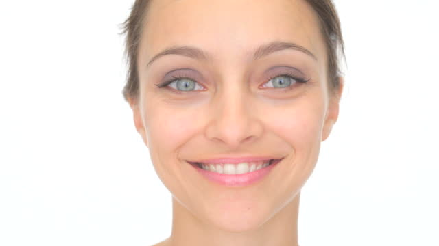 Beautiful woman smiling video
